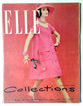 ELLE französische vintage Modezeitschrift Modemagazin - Collections Printemps 1958  Heft Nr. 636