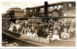 Alte Postkarte HAMBURG Hafenrundfahrt 1938