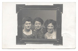 Alte Foto Postkarte DAS KLEEBLATT - DREI FREUNDINNEN 1910