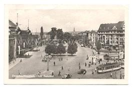Alte Postkarte DRESDEN/NEUSTADT Am Bahnhof, Straßenbahnen - 1959