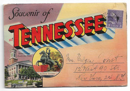 Altes Postkarten Leporello SOUVENIR OF TENNESSEE,  USA  1944