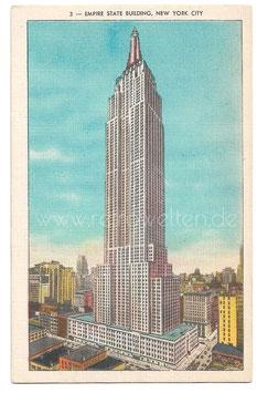 Alte Postkarte NEW YORK CITY Empire State Building Hochhaus