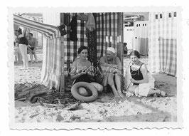 Alte Fotografie GRADO Am Strand, Italien 1937