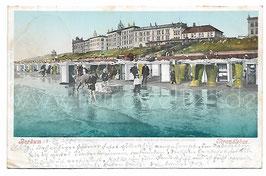 Alte Postkarte BORKUM Strandleben, 1901