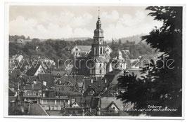 Alte Postkarte COBURG Blick auf die Moritzkirche