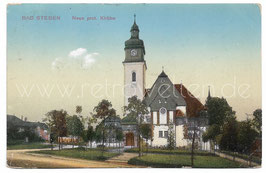 Alte Postkarte BAD STEBEN Neue protestantische Kirche um 1911