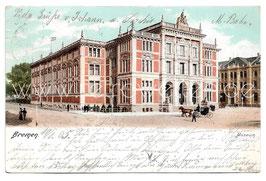 Alte Postkarte BREMEN Museum, 1905