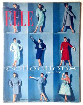 ELLE französische vintage Modezeitschrift Modemagazin - Collections Hiver 1958 Heft Nr. 610