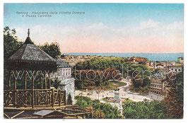 Alte Postkarte GENUA GENOVA Panorama dalla Villetta Dinegro e Piazza Corvetto - um 1910