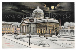 Alte Mondschein Postkarte WUPPERTAL BARMEN Ruhmeshalle 1910
