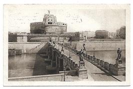 Alte Foto Postkarte ROMA - Castel Sant' Angelo und Brücke über den Tiber, Italien 1927