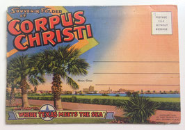 Altes Postkarten Leporello SOUVENIR FOLDER OF CORPUS CHRISTI - TEXAS,  USA  1934