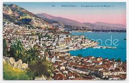 Alte Postkarte MONTE-CARLO - Vue générale prise de Monaco, Frankreich 1928