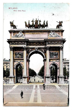 Alte Foto Postkarte MILANO Arco della Pace - 1909