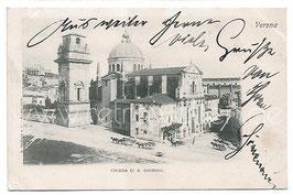 Alte Foto Postkarte VERONA Chiesa di San Giorgio, Italien 1900