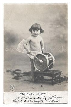 Alte Foto Postkarte DER KLEINE TROMMLER, 1910