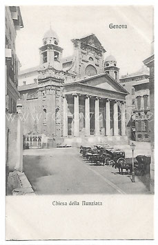 """Alte Foto Postkarte GENUA GENOVA - Kirche """"Chiesa della Nunziata"""""""