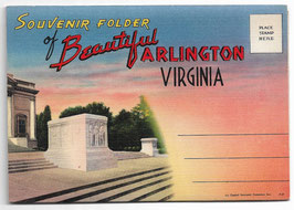 Altes Postkarten Leporello SOUVENIR FOLDER OF BEAUTIFUL ARLINGTON - VIRGINIA, USA 1930er Jahre