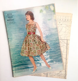 MEYERS SCHWEIZER FRAUEN - UND MODENBLATT  Vintage Nähzeitschrift Modezeitschrift mit Schnittmusterbogen  Heft Nr. 12/ 1961