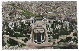 Alte Foto Postkarte PARIS - Panorama sur le Palais de Chaillot, vue prise de la Tour Eiffel