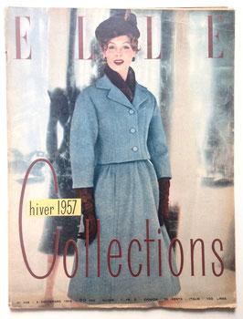 ELLE französische vintage Modezeitschrift Modemagazin - Collections Hiver 1957  Heft Nr. 558