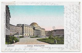 Alte Goldfenster-Postkarte KASSEL Schloss Wilhelmshöhe
