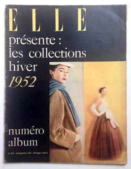ELLE französische vintage Modezeitschrift Modemagazin - Collections Hiver 1952  Heft Nr. 301