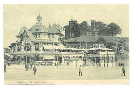 Alte Postkarte HAMBURG St. Pauli-Fährhaus  1907