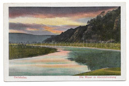 Alte Postkarte CARLSHAFEN - DIE WESER IN ABENDSTIMMUNG, um 1910