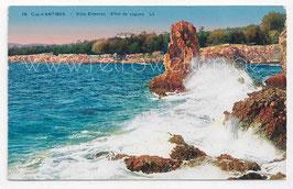 Alte Postkarte CAP D'ANTIBES - Villa Eilenroc - Effet de Vagues - Frankreich 1928
