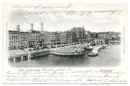 Alte Postkarte HAMBURG Alter Jungfernstieg, 1901
