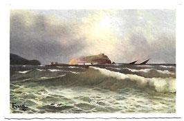 Alte Künstler Postkarte NEAPEL NAPOLI  NISIDA  Mareggiata, Italien