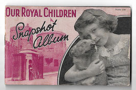 Altes englisches Fotoalbum OUR ROYAL CHILDREN-SNAPSHOT ALBUM Prinzessinnen Elisabeth und Margaret, Prinz Edward