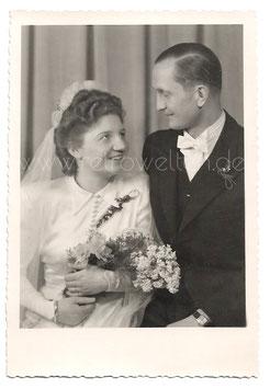Alte Fotografie HOCHZEIT  Brautpaar aus den 1930er Jahren