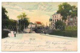 Alte Lithografie Postkarte BREMEN  Wallbrücke 1904