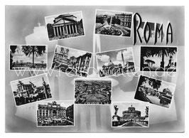 Alte Foto Postkarte ROMA - 11 SEHENSWÜRDIGKEITEN, 1960er Jahre