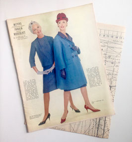 MEYERS SCHWEIZER FRAUEN - UND MODENBLATT  Vintage Nähzeitschrift Modezeitschrift mit Schnittmusterbogen  Heft Nr. 23/ 1962