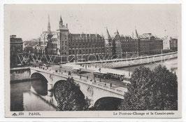 Alte Foto Postkarte PARIS - Le Pont au Change et la Conciergerie