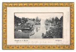 Alte Passepartout Postkarte ESSEN AN DER RUHR Stadtgarten 1904