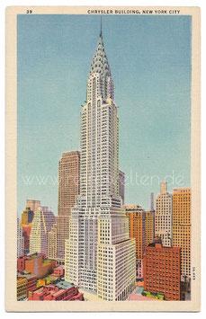 Alte Postkarte NEW YORK CITY Chrysler Building Hochhaus
