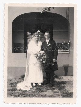 Alte Fotografie HOCHZEIT  Brautpaar aus den 1920er Jahren