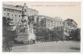 Alte Foto Postkarte GENUA GENOVA Monumento a Cristoforo Colombo