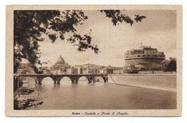 Alte Foto Postkarte ROMA - Castel Sant' Angelo und Brücke über den Tiber, Italien 1935