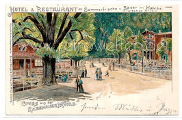 Alte Lithographie Postkarte RABENAU Gruss aus der Rabenauer Mühle - 1902