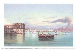 Alte Künstler Postkarte NEAPEL NAPOLI  Palazzo Donn'Anna, Italien