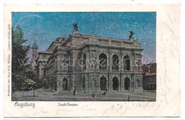 Alte Lunaparke Postkarte AUGSBURG Stadt-Theater 1905