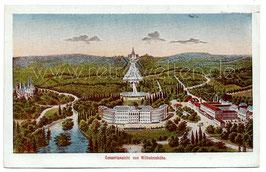 Alte Lithographie Postkarte KASSEL Gesamtansicht von Wilhelmshöhe um 1900