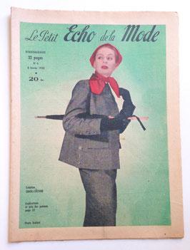 LE PETIT ECHO DE LA MODE alte Modezeitschrift Frauenzeitschrift -  Heft Nr. 6  Februar 1953