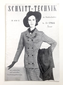 SCHNITT-TECHNIK IM MODESCHAFFEN - Fachzeitschrift Modezeitschrift - Heft Nr. 1/1966