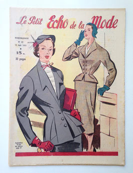 LE PETIT ECHO DE LA MODE alte Modezeitschrift Frauenzeitschrift - Heft Nr. 32 August 1951